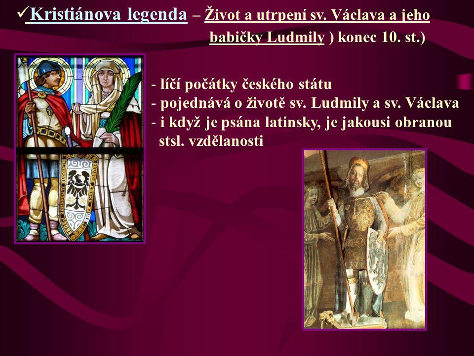 Kristiánova legenda – Život a utrpení sv. Václava a jeho