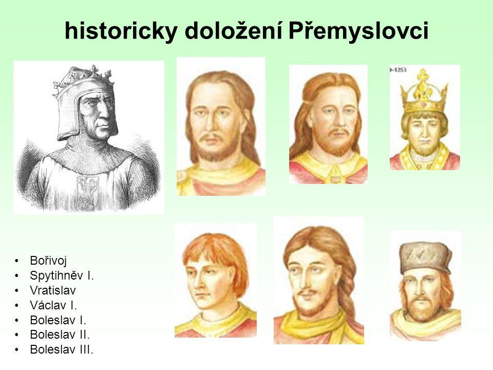 historicky doložení Přemyslovci