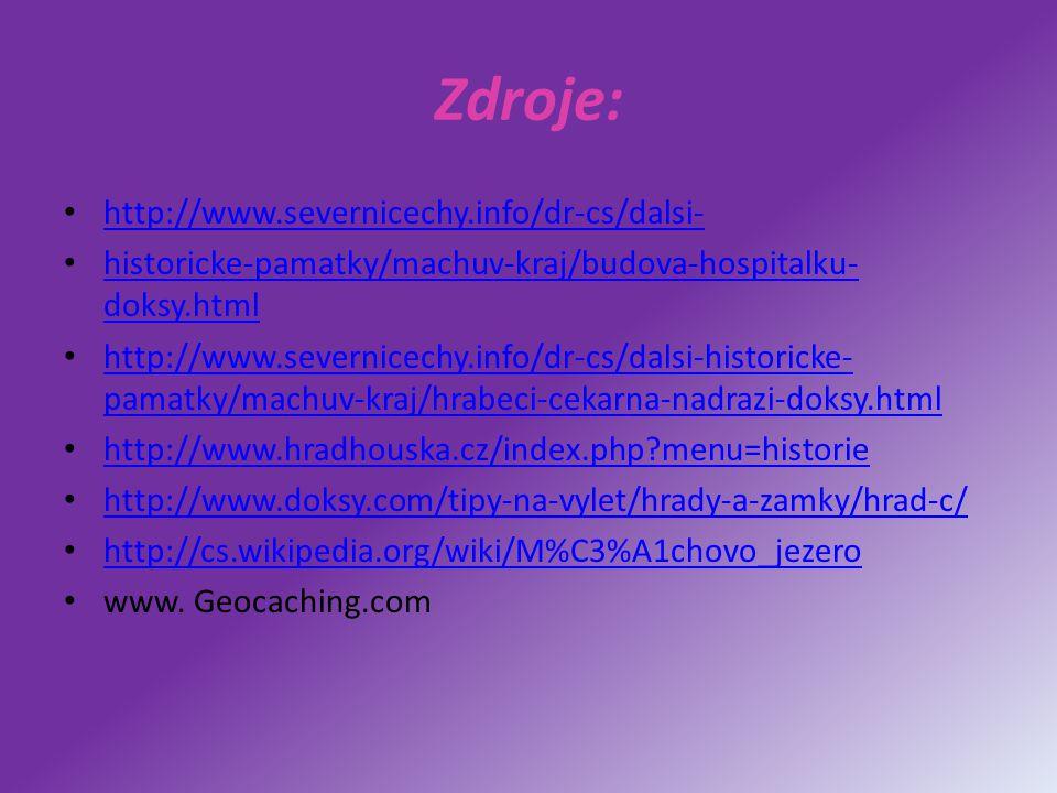 Zdroje: http://www.severnicechy.info/dr-cs/dalsi-