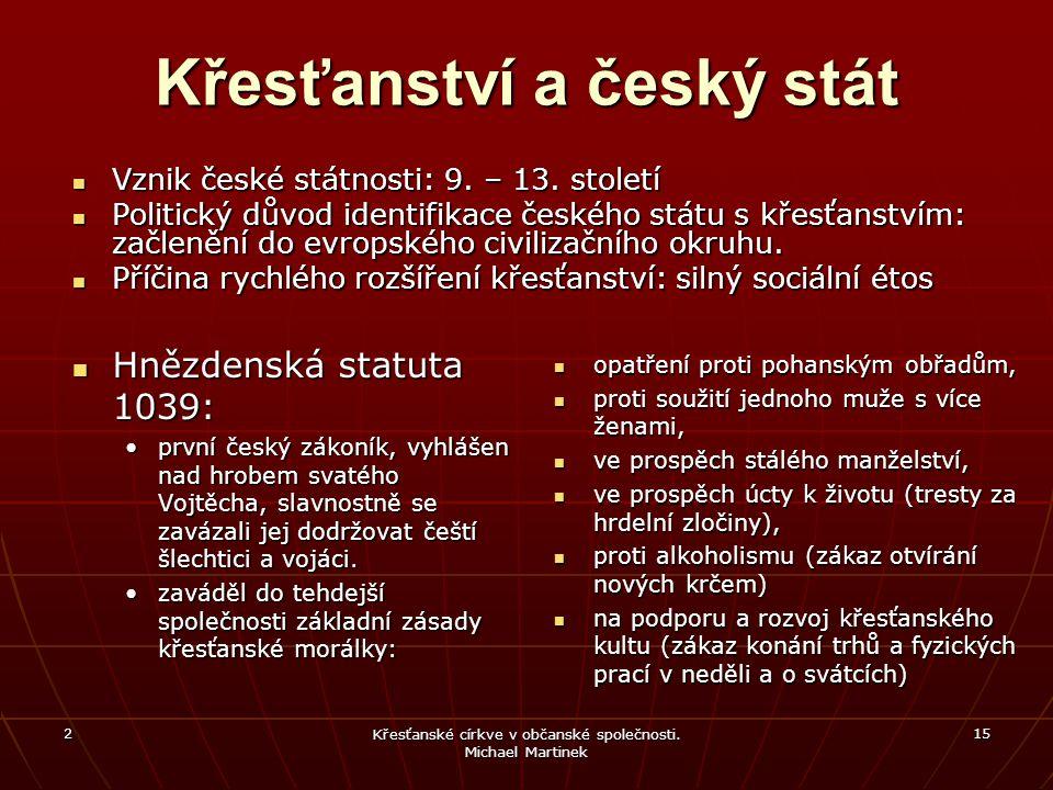 Křesťanství a český stát