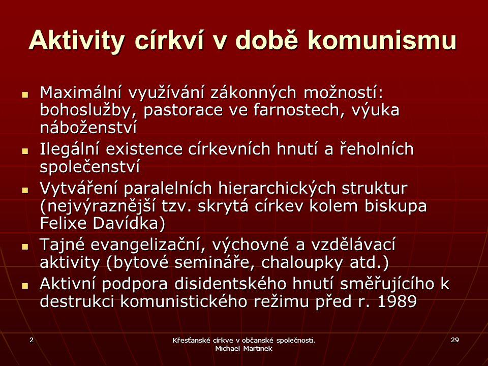 Aktivity církví v době komunismu