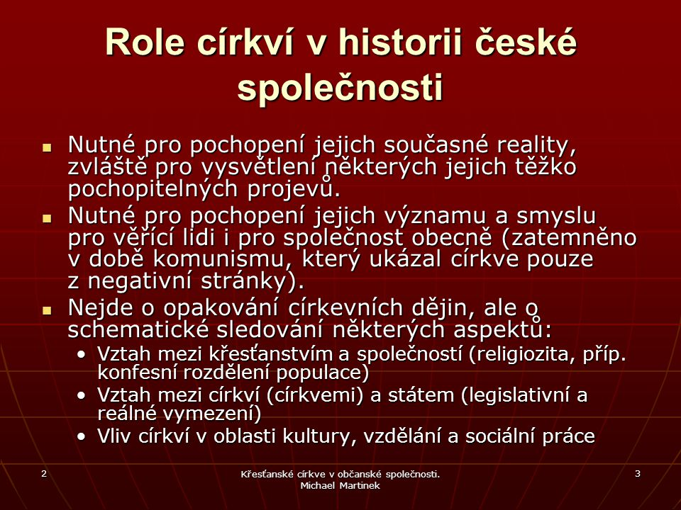 Role církví v historii české společnosti