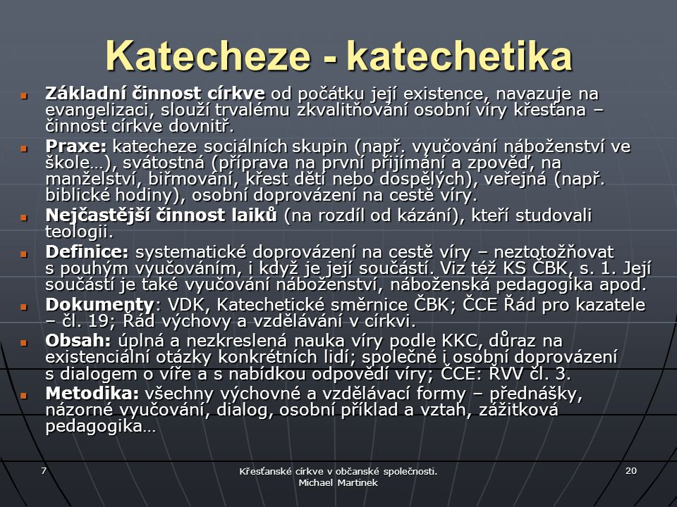 Katecheze - katechetika