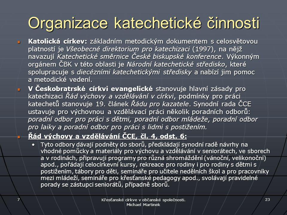 Organizace katechetické činnosti