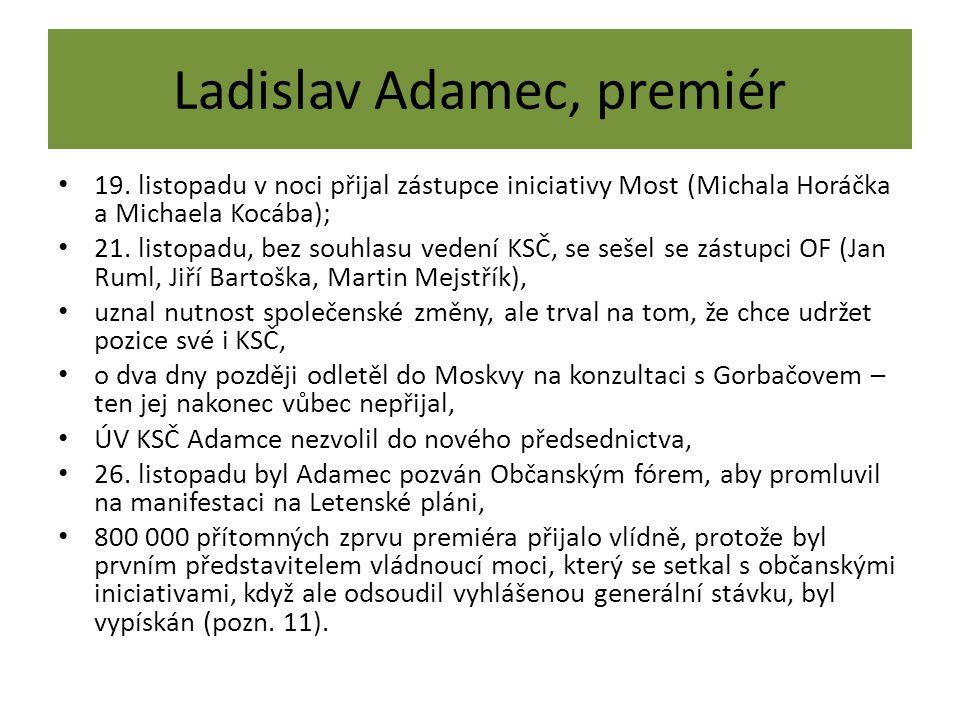 Ladislav Adamec, premiér