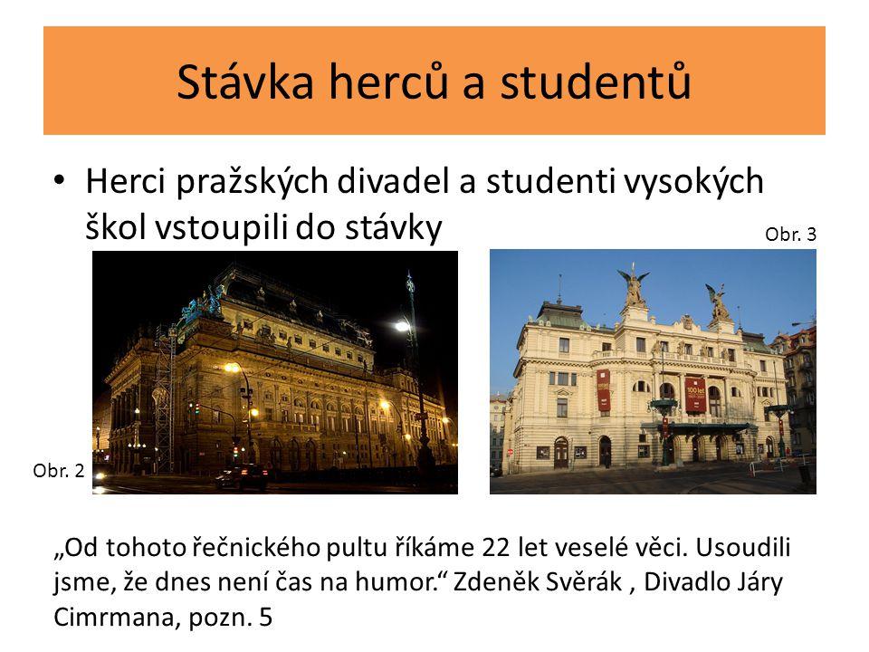 Stávka herců a studentů