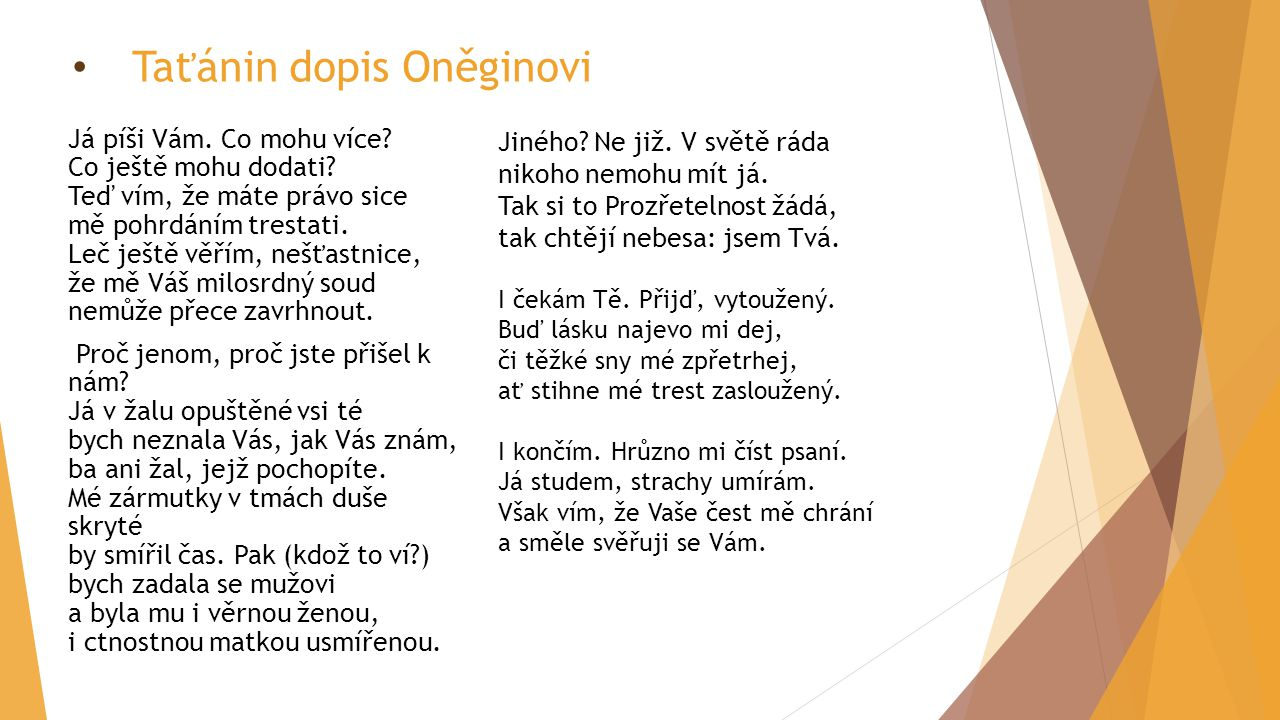 Taťánin dopis Oněginovi