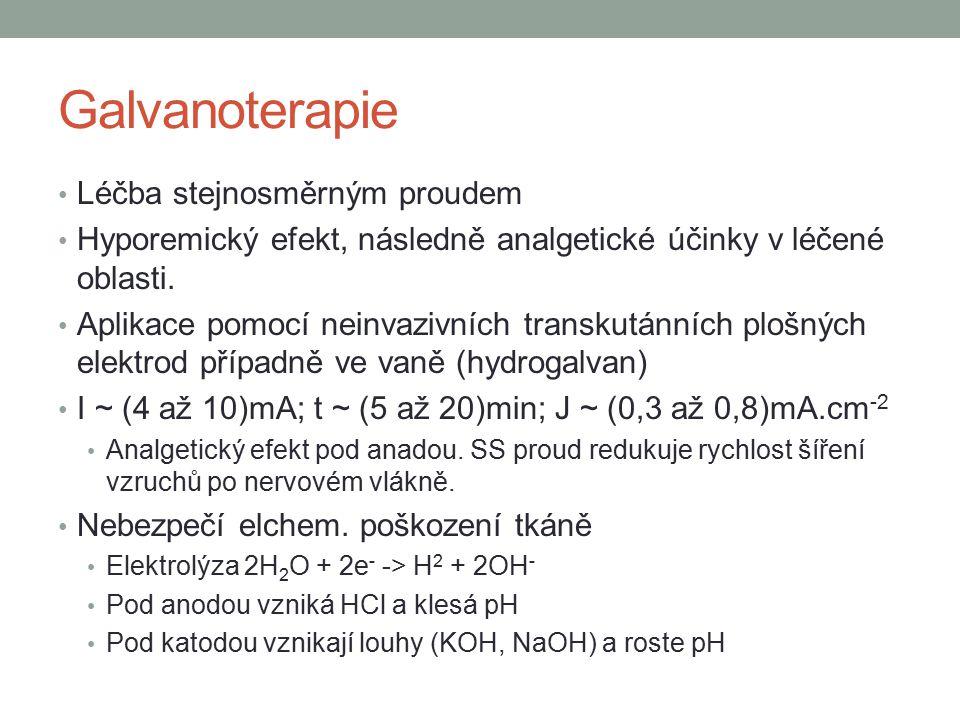 Galvanoterapie Léčba stejnosměrným proudem