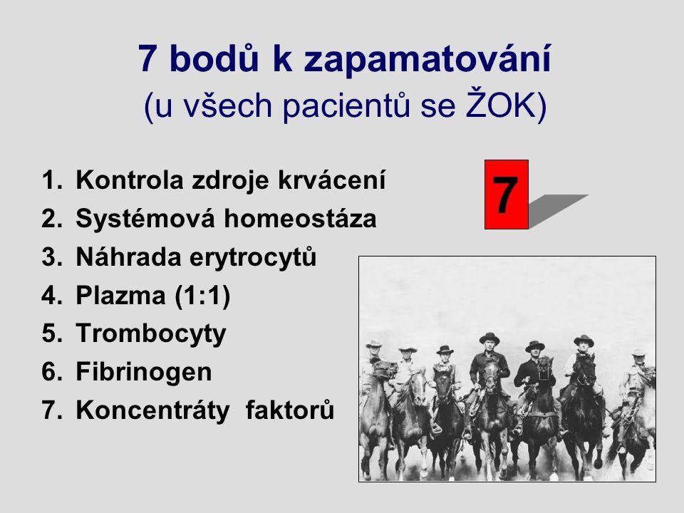 7 bodů k zapamatování (u všech pacientů se ŽOK)