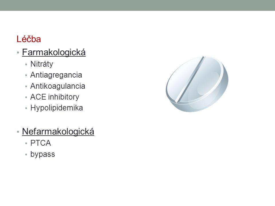 Léčba Farmakologická Nefarmakologická Nitráty Antiagregancia