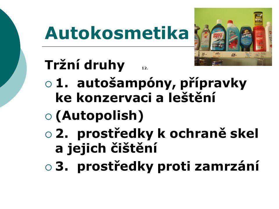 Autokosmetika Tržní druhy 12.
