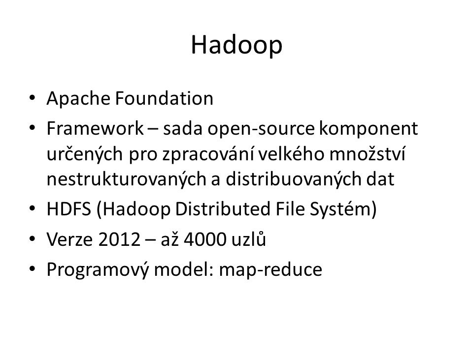 Hadoop Apache Foundation
