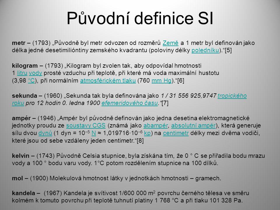 Původní definice SI