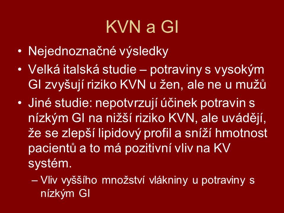 KVN a GI Nejednoznačné výsledky