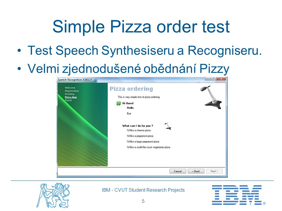 Simple Pizza order test