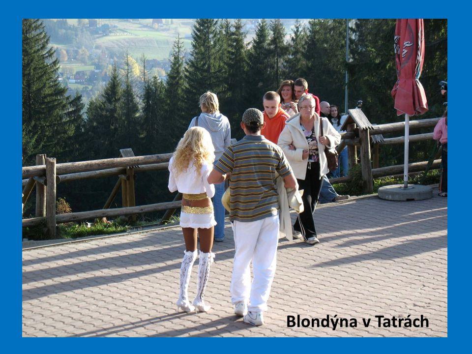 Blondýna v Tatrách