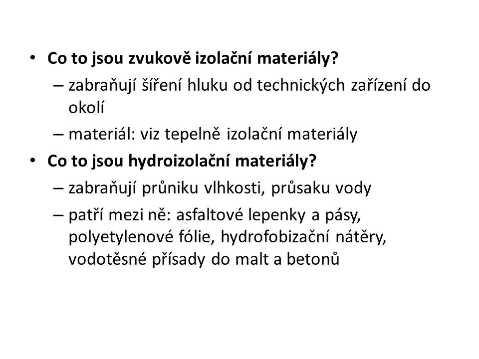 Co to jsou zvukově izolační materiály