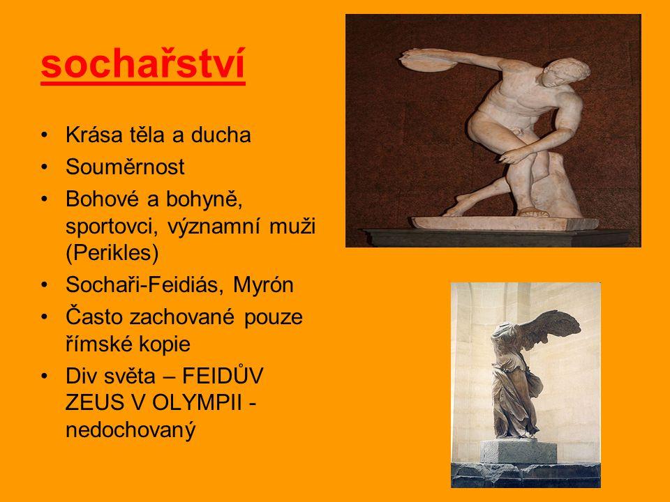 sochařství Krása těla a ducha Souměrnost
