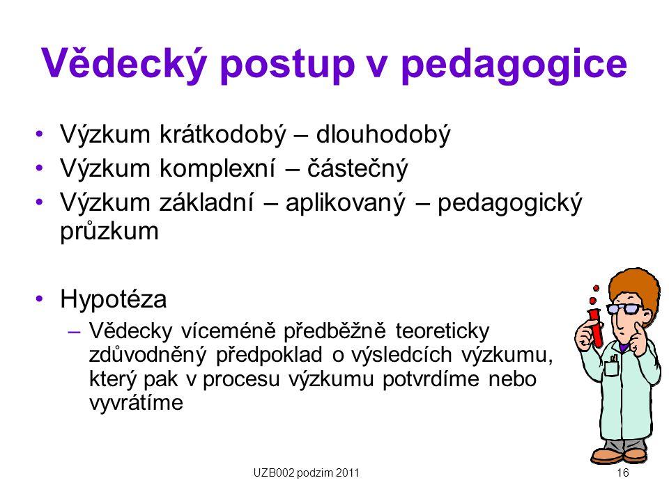 Vědecký postup v pedagogice