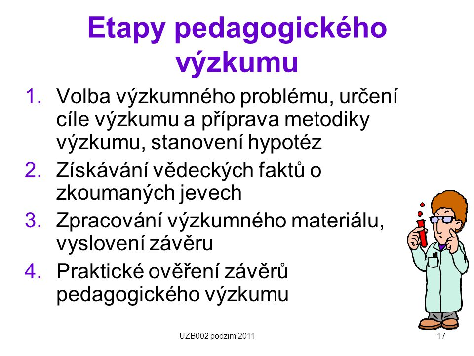 Etapy pedagogického výzkumu