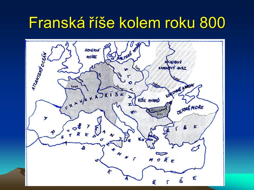 Franská říše kolem roku 800