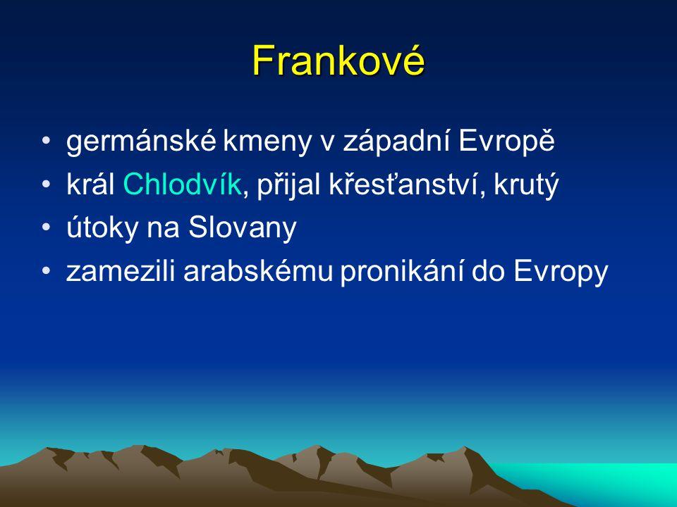 Frankové germánské kmeny v západní Evropě