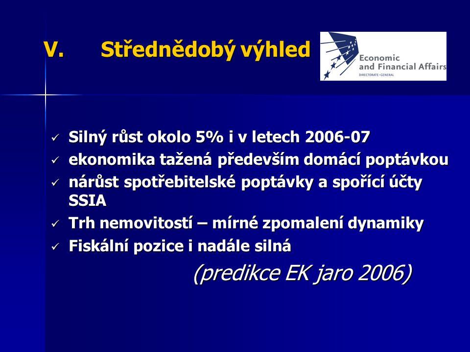 Střednědobý výhled (predikce EK jaro 2006)