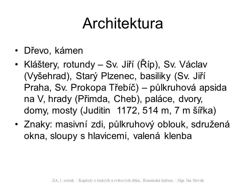 Architektura Dřevo, kámen