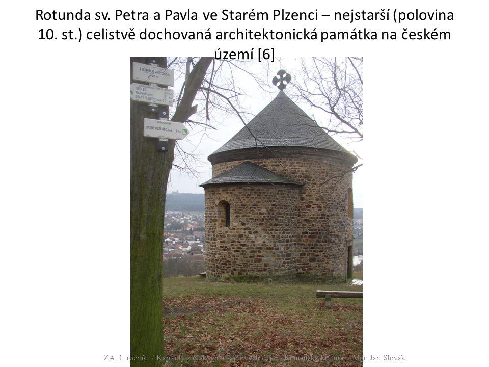 Rotunda sv. Petra a Pavla ve Starém Plzenci – nejstarší (polovina 10