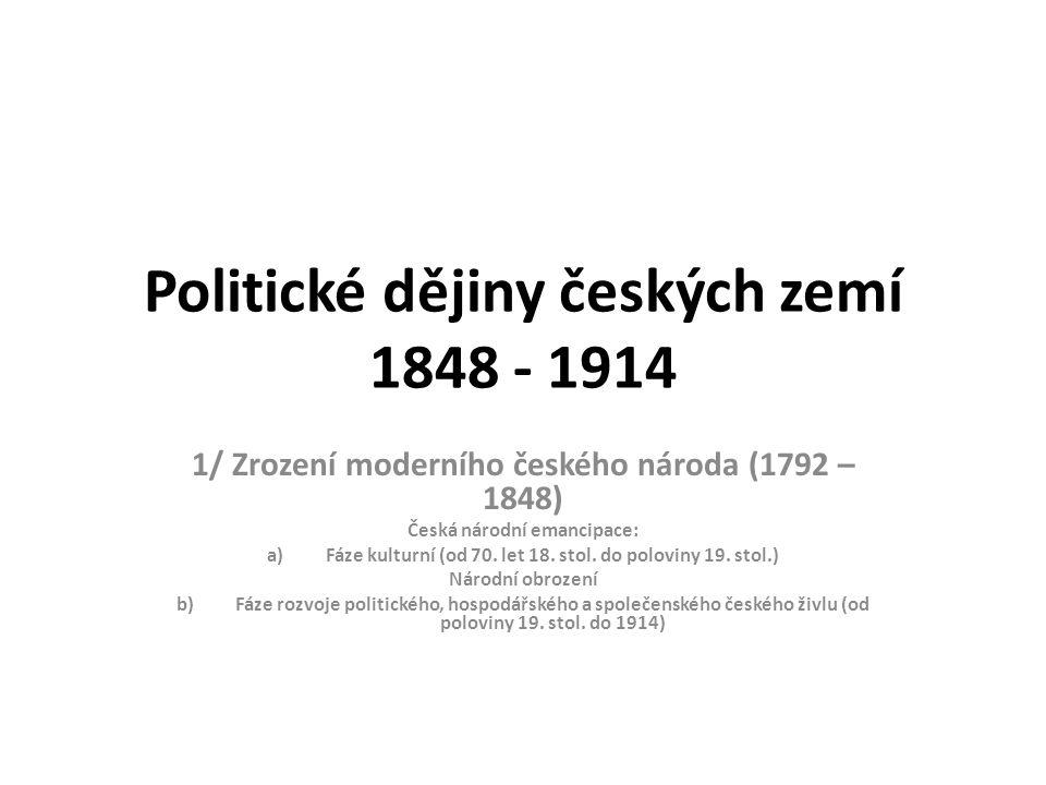 Politické dějiny českých zemí 1848 - 1914