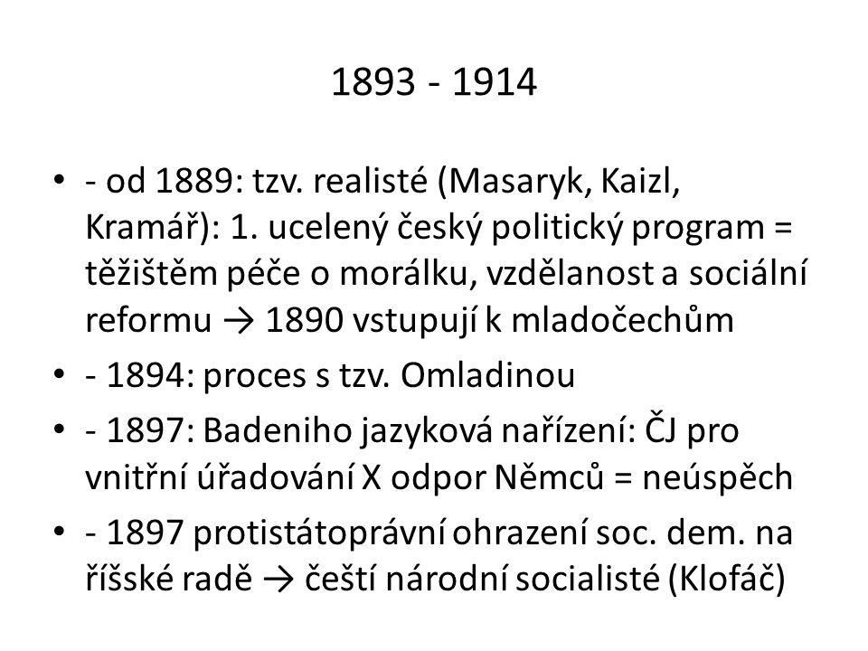 1893 - 1914