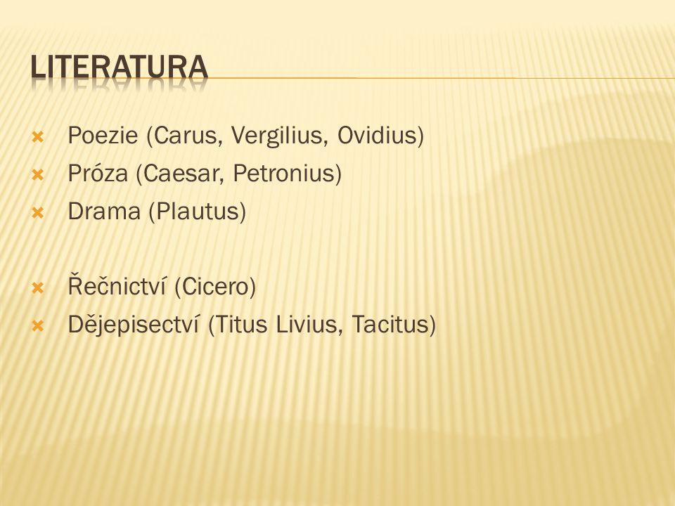 Literatura Poezie (Carus, Vergilius, Ovidius)