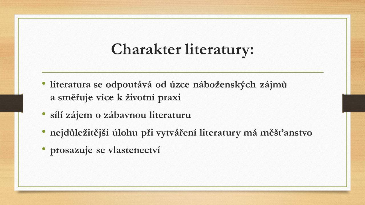 Charakter literatury: