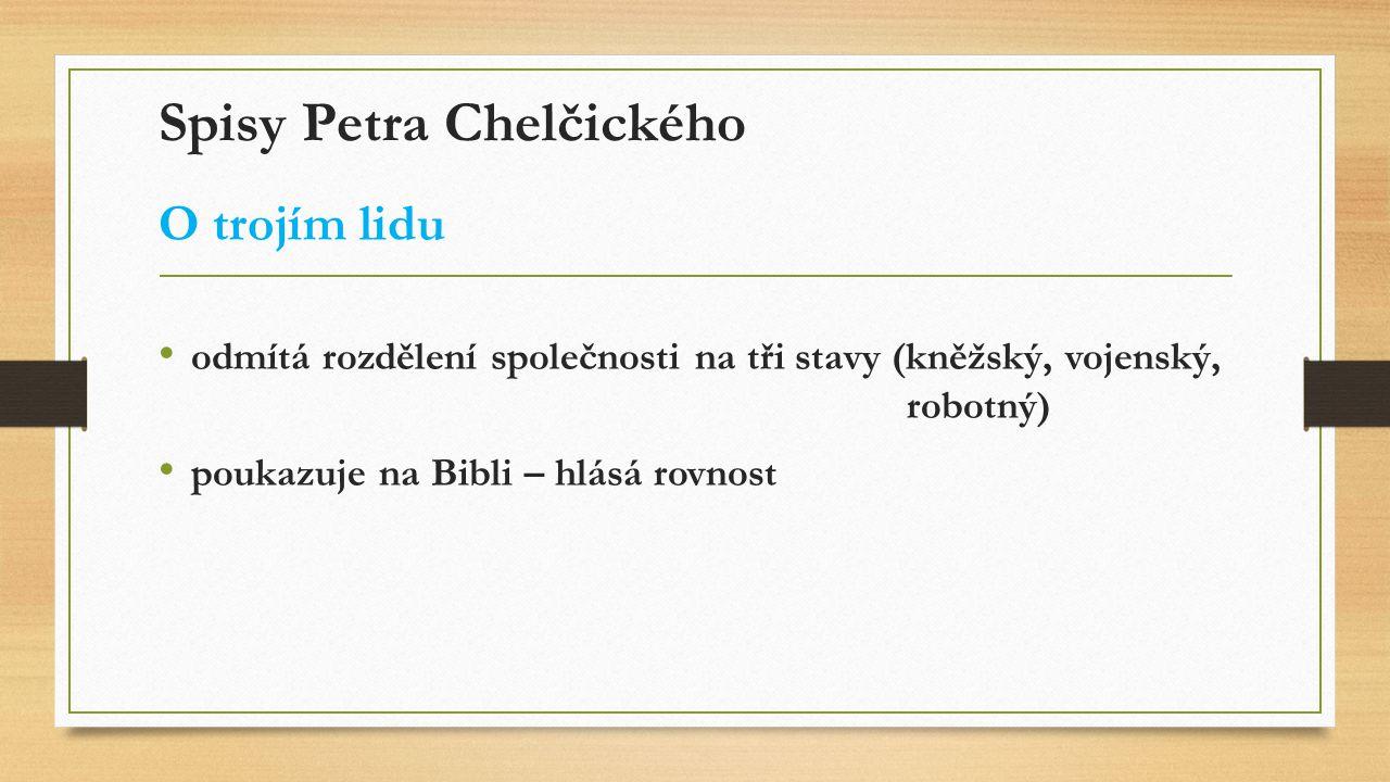 Spisy Petra Chelčického