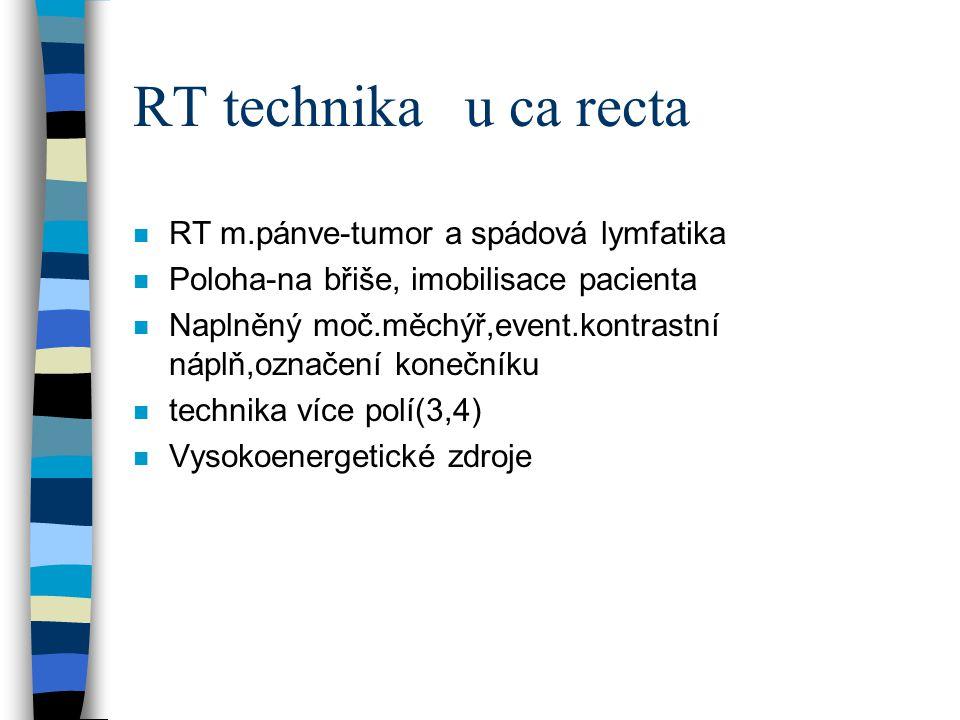 RT technika u ca recta RT m.pánve-tumor a spádová lymfatika