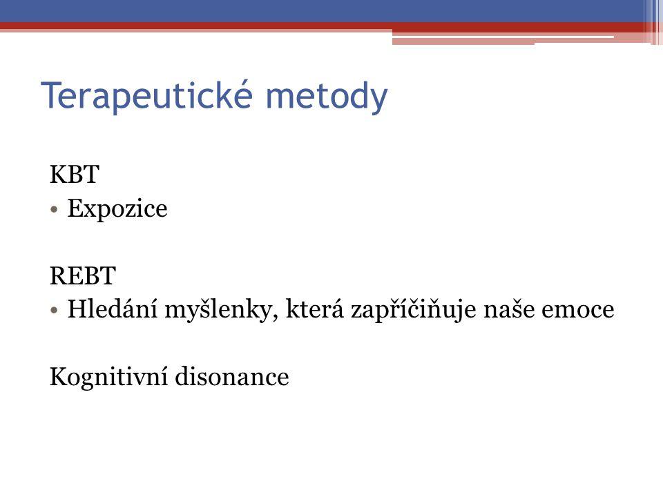 Terapeutické metody KBT Expozice REBT