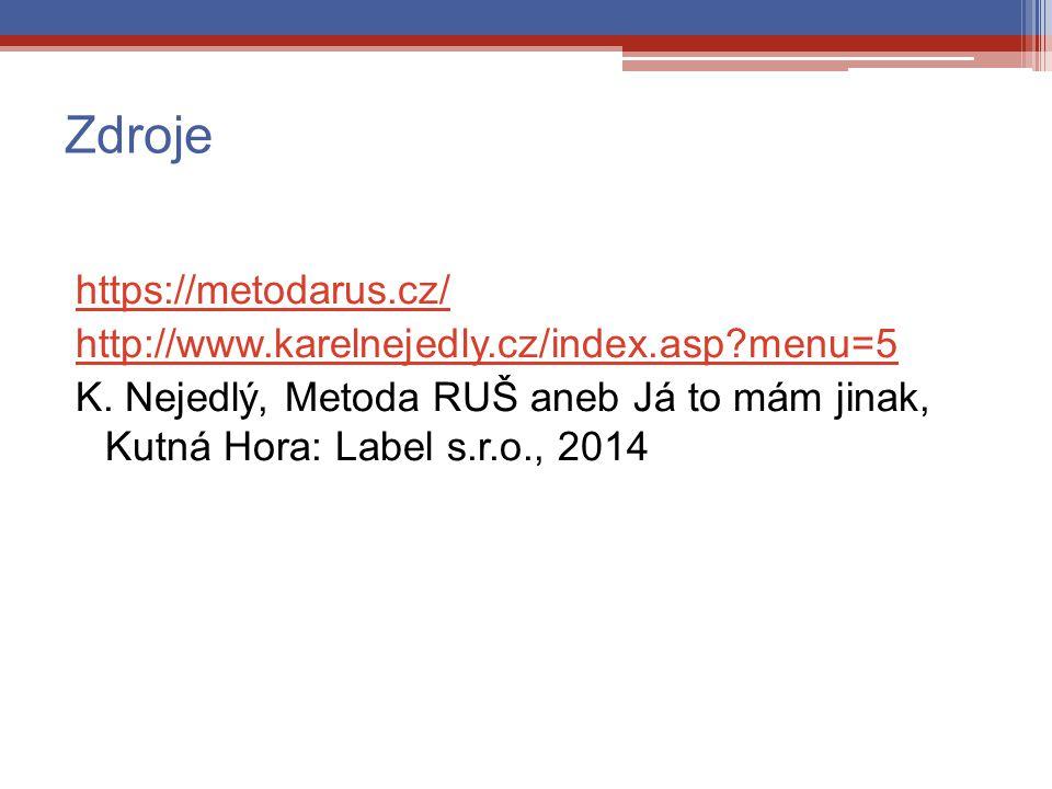 Zdroje https://metodarus.cz/