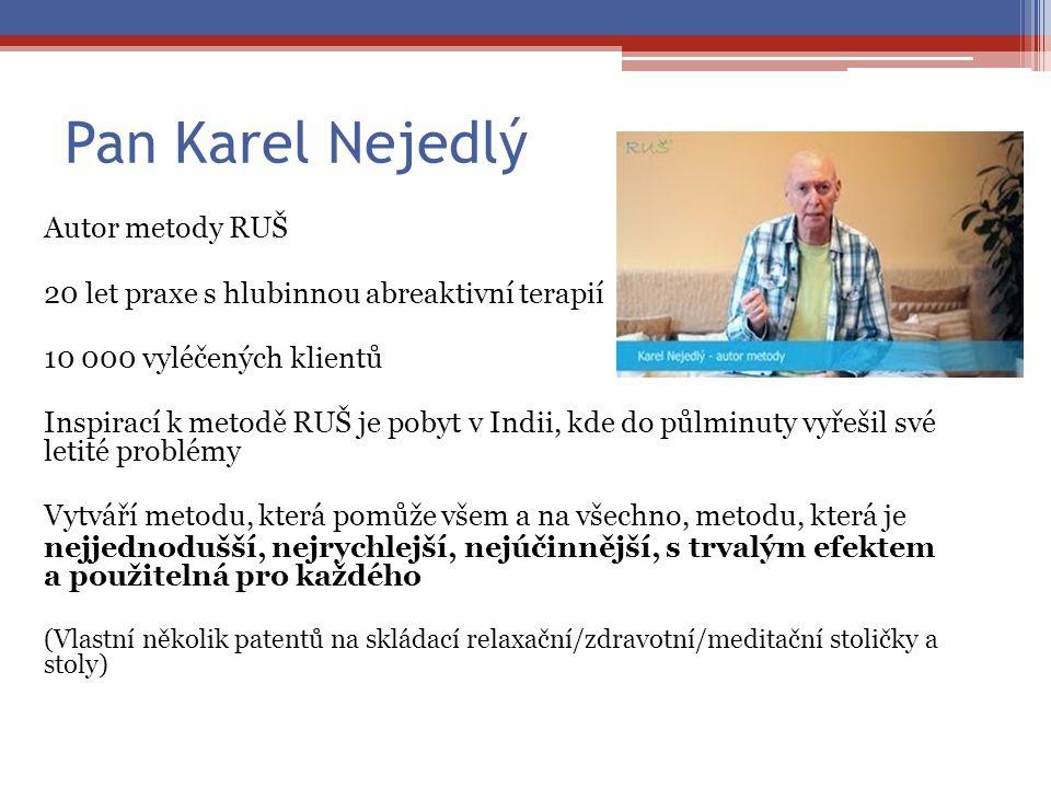 Pan Karel Nejedlý Autor metody RUŠ