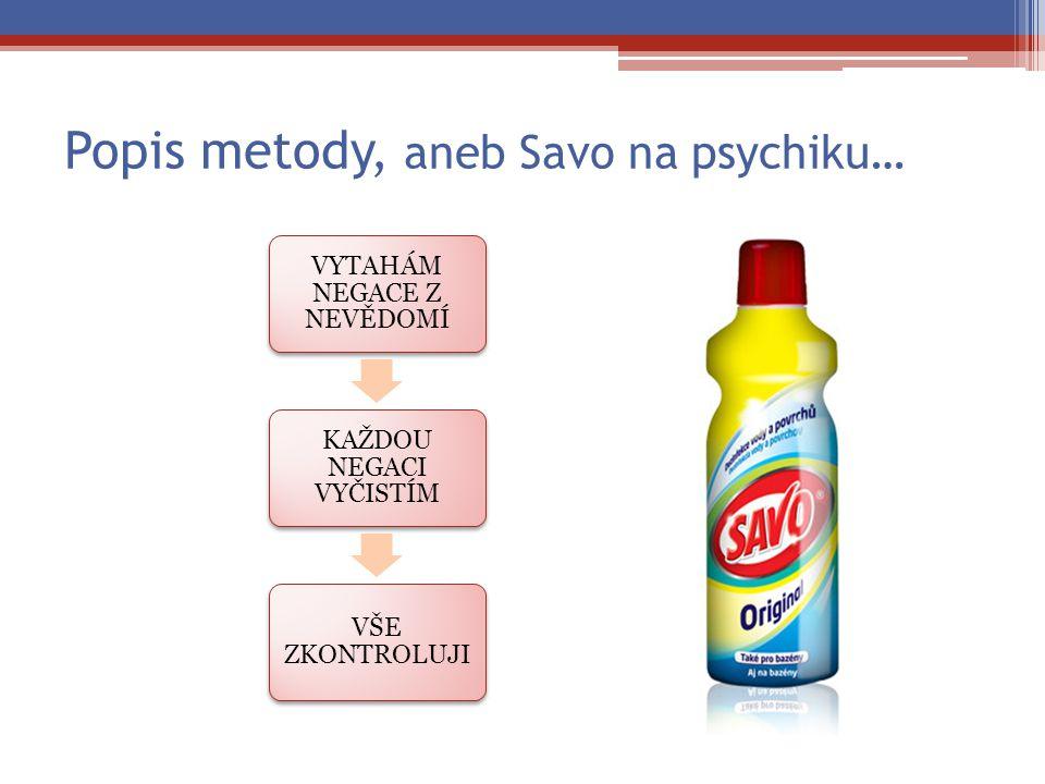 Popis metody, aneb Savo na psychiku…