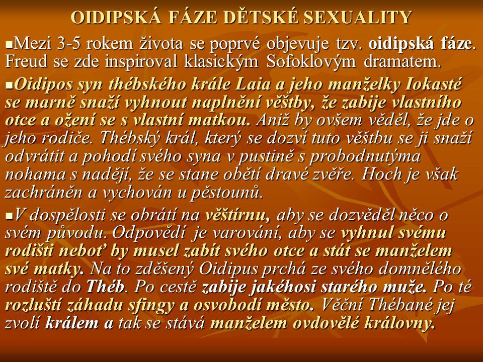 OIDIPSKÁ FÁZE DĚTSKÉ SEXUALITY
