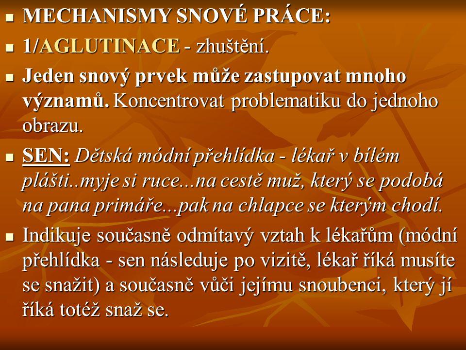 MECHANISMY SNOVÉ PRÁCE: