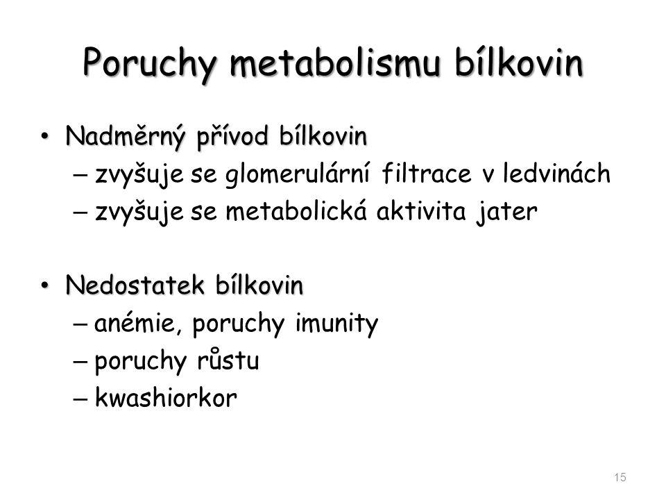Poruchy metabolismu bílkovin