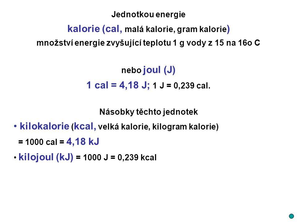 kalorie (cal, malá kalorie, gram kalorie)