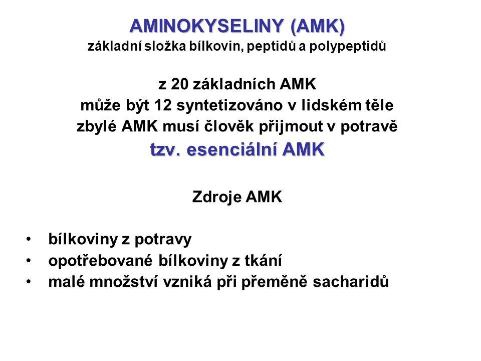 AMINOKYSELINY (AMK) tzv. esenciální AMK