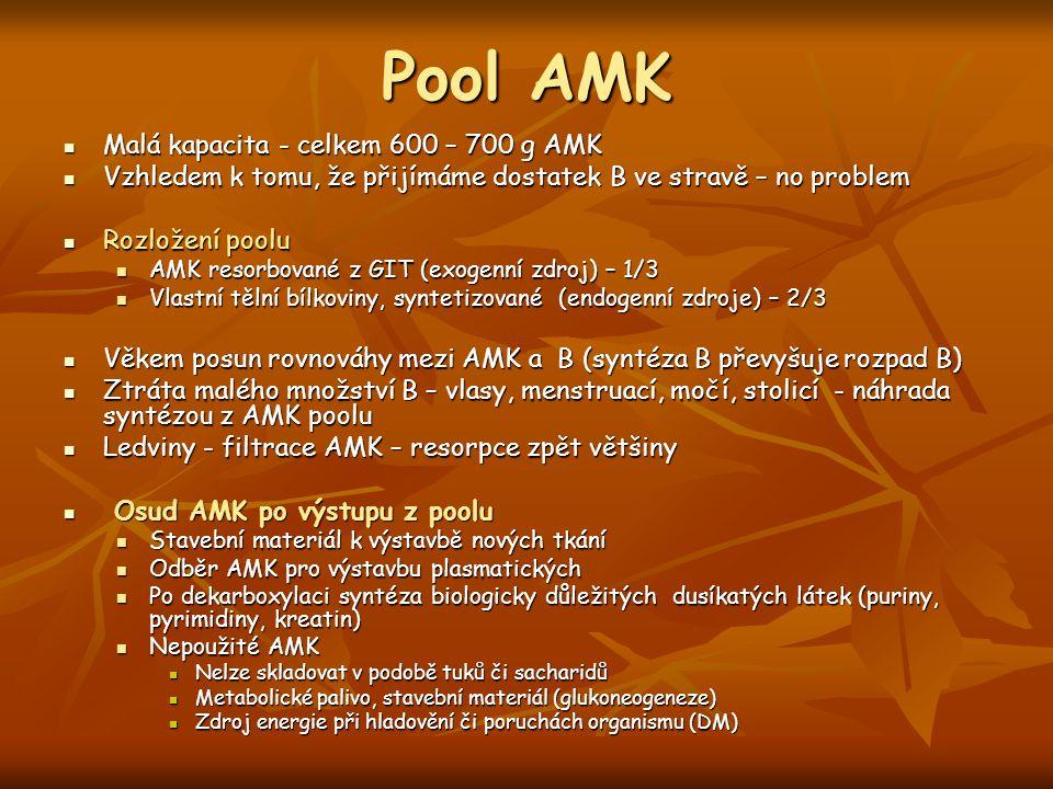 Pool AMK Malá kapacita - celkem 600 – 700 g AMK