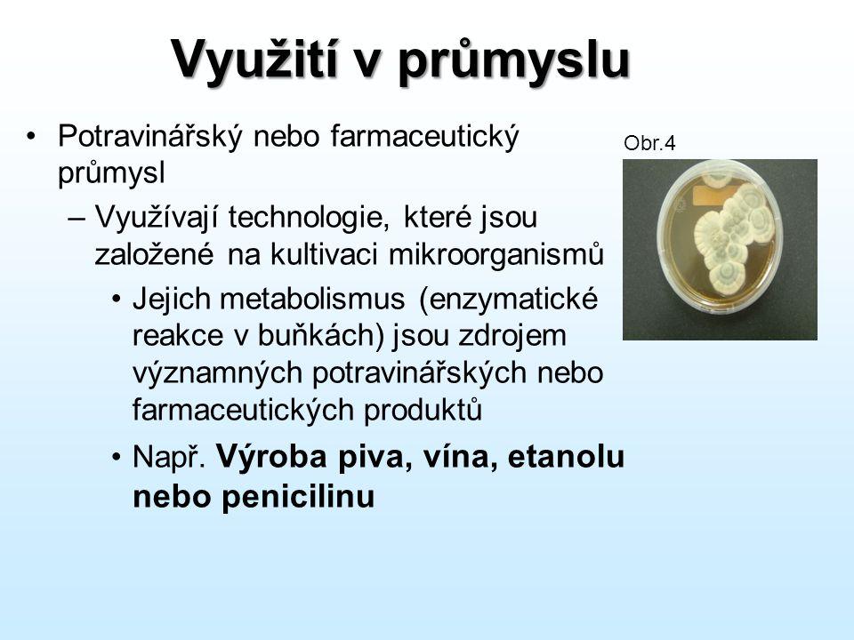 Využití v průmyslu Potravinářský nebo farmaceutický průmysl