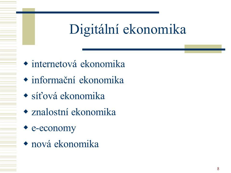 Digitální ekonomika internetová ekonomika informační ekonomika