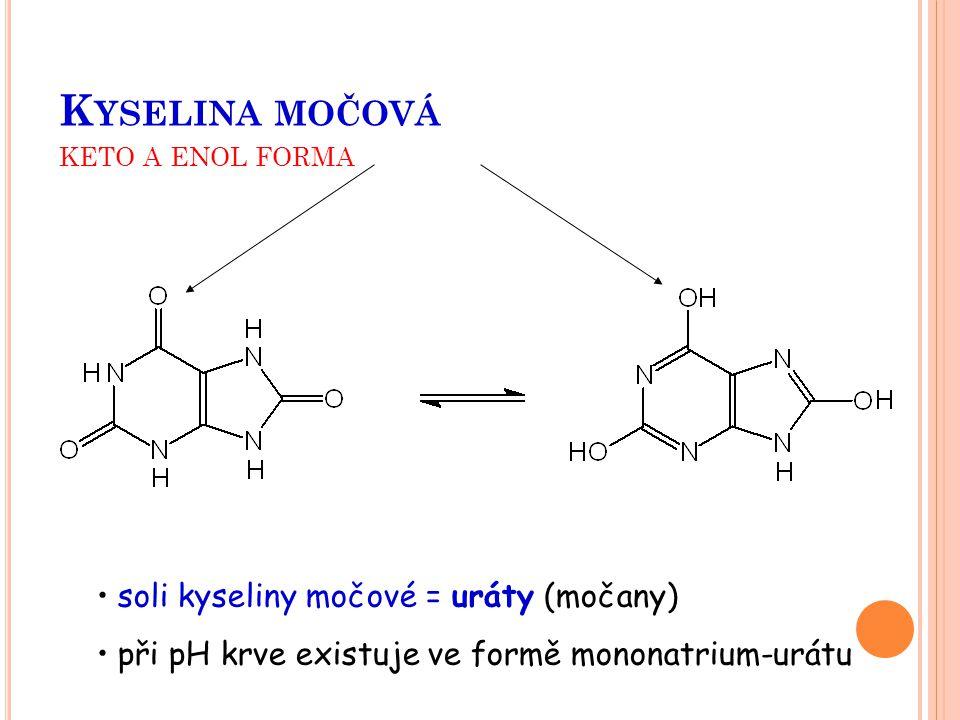 Kyselina močová keto a enol forma