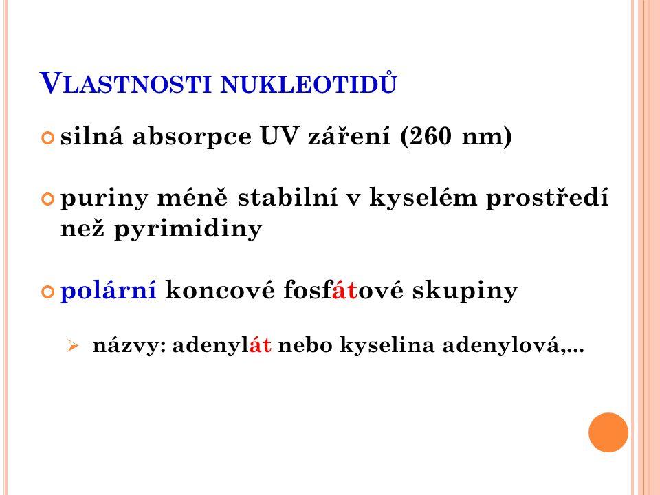 Vlastnosti nukleotidů