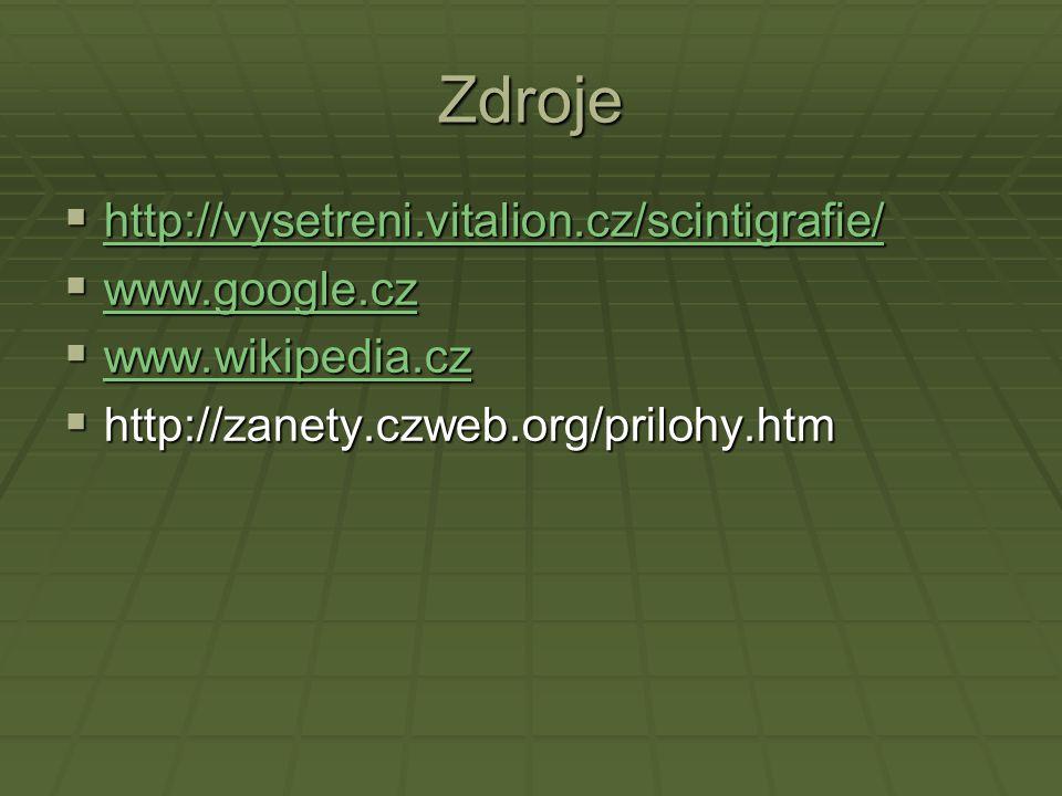 Zdroje http://vysetreni.vitalion.cz/scintigrafie/ www.google.cz